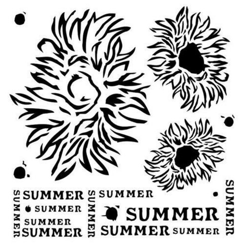 13@rts Mixed Media sapluuna Summer Flowers