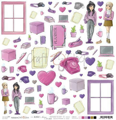 Craft O'clock skräppipaperi Kara & Lina Extras To Cut IV
