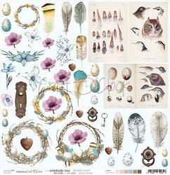 Craft O'clock skräppipaperi Hummingbird Song Extras To Cut