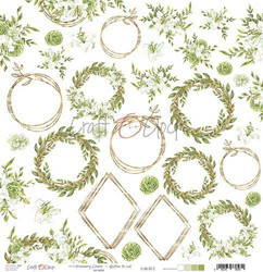 Craft O'clock skräppipaperi Greenery Charm Extras To Cut
