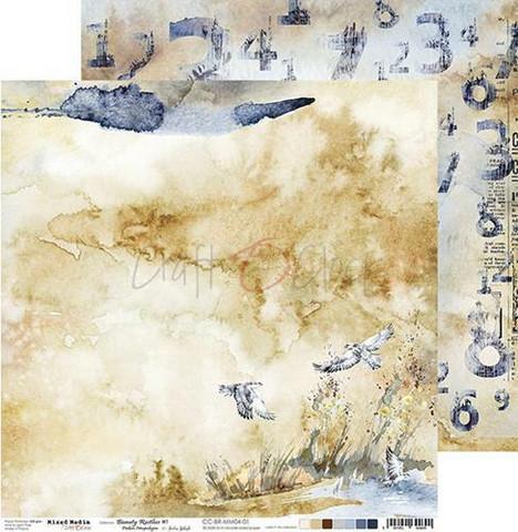 Craft O'clock skräppipaperi Mixed Media, Beauty Restless 01