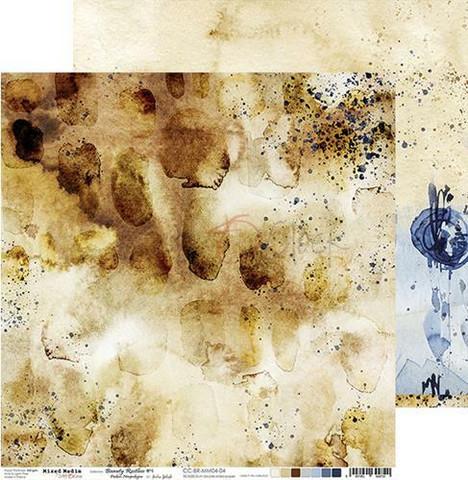 Craft O'clock skräppipaperi Mixed Media, Beauty Restless 04