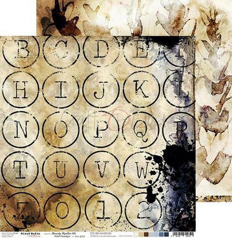 Craft O'clock skräppipaperi Mixed Media, Beauty Restless 06