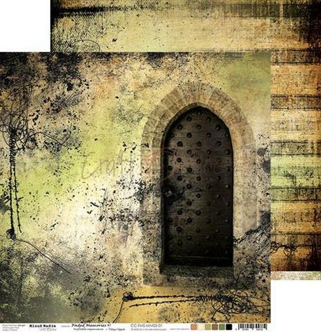 Craft O'clock skräppipaperi Mixed Media, Faded Memories 01