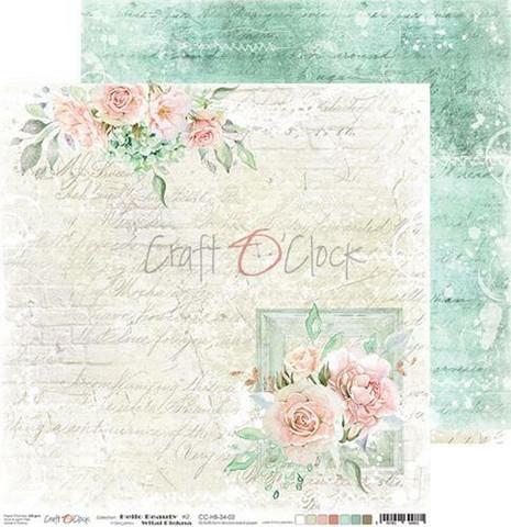Craft O'clock skräppipaperi Hello Beauty 02