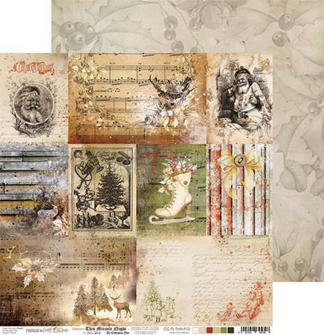 Craft O'clock skräppipaperi This Miracle Night, Decorative Cards