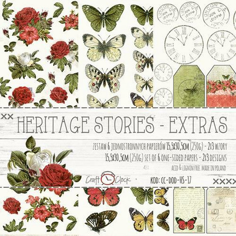 Craft O'clock paperipakkaus Heritage Stories Extras To Cut