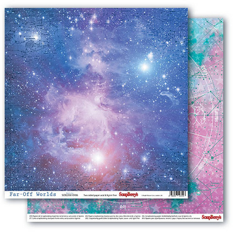 Scrapberry skräppipaperi Far-Off Worlds, Nebula