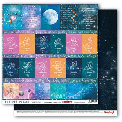 Scrapberry skräppipaperi Far-Off Worlds, Cards 1