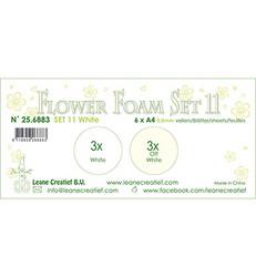Leane Creatief Flower Foam -softislevy kukkien tekoon, setti 11, white