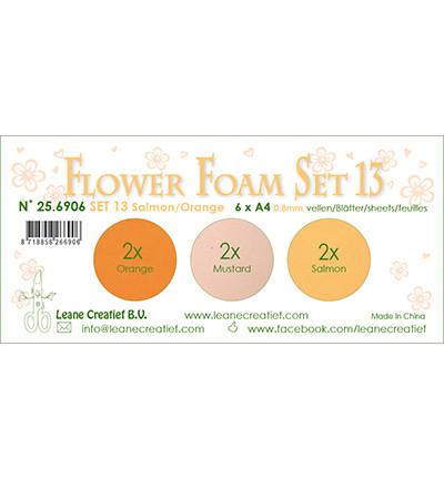 Leane Creatief Flower Foam -softislevy kukkien tekoon, setti 13, orange