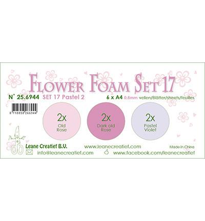 Leane Creatief Flower Foam -softislevy kukkien tekoon, setti 17, pastel 2