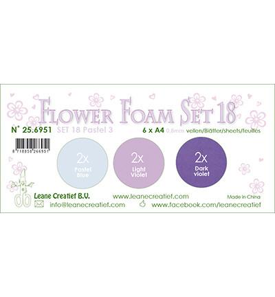Leane Creatief Flower Foam -softislevy kukkien tekoon, setti 18, pastel 3