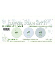 Leane Creatief Flower Foam -softislevy kukkien tekoon, setti 19, pastel 4