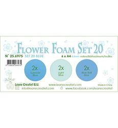 Leane Creatief Flower Foam -softislevy kukkien tekoon, setti 20, blue