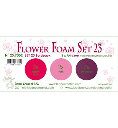 Leane Creatief Flower Foam -softislevy kukkien tekoon, setti 23, bordeaux