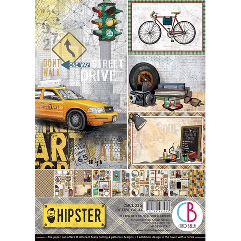 Ciao Bella Creative Pad paperipakkaus Hipster
