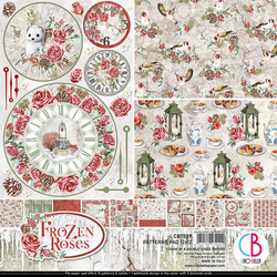 Ciao Bella Patterns Pad paperipakkaus Frozen Roses 12