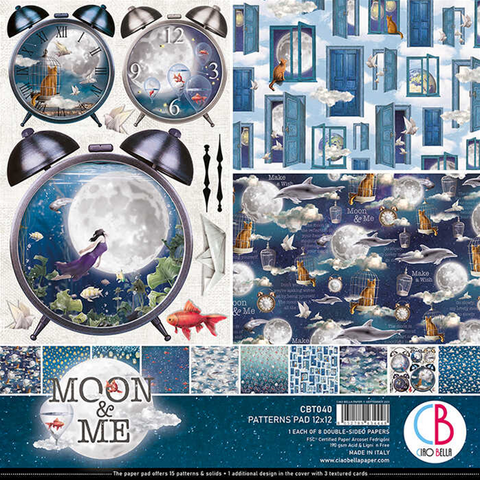 Ciao Bella Patterns Pad paperipakkaus Moon & Me 12