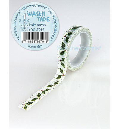 Leane Creatief washi -teippi Holly Leaves