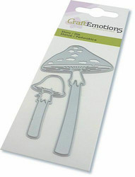 CraftEmotions Long Stemmed Mushrooms -stanssisetti