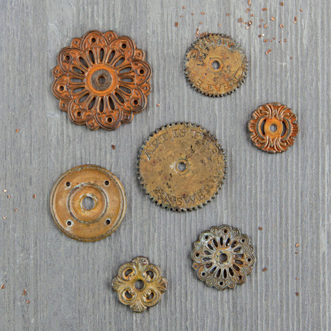Finnabair Mechanicals -metallikoristeet Rustic Washers