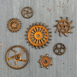 Finnabair Mechanicals -metallikoristeet Rustic Gears