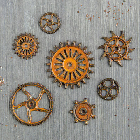 Finnabair Mechanicals -metallikoristeet Rustic Gears