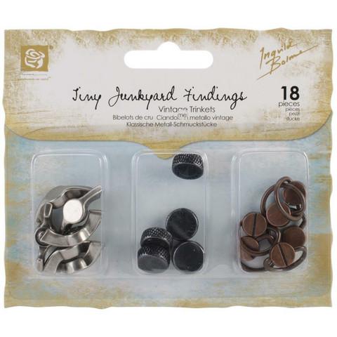 Prima Marketing Junkyard Findings -metallikoristeet Handles & Turns