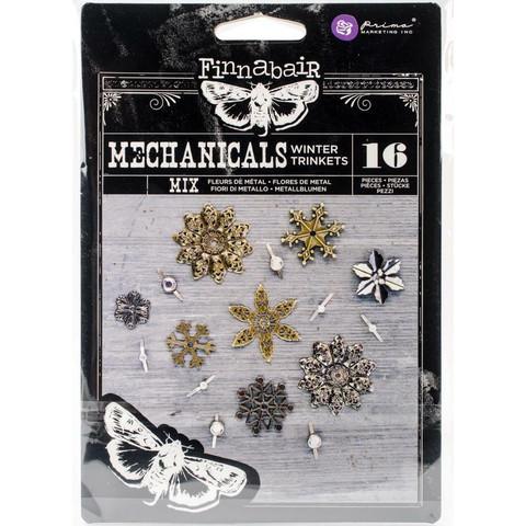 Finnabair Mechanicals -metallikoristeet Winter Trinkets