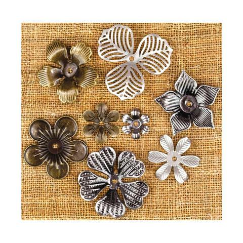 Finnabair Mechanicals -metallikoristeet Mini Flowers