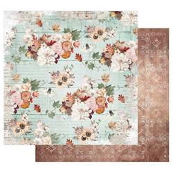 Prima Pumpkin & Spice -skräppipaperi Fall Flowers