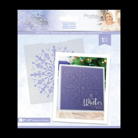 Sara Signature Glittering Snowflakes kohokuviointikansio Frosted Elegance
