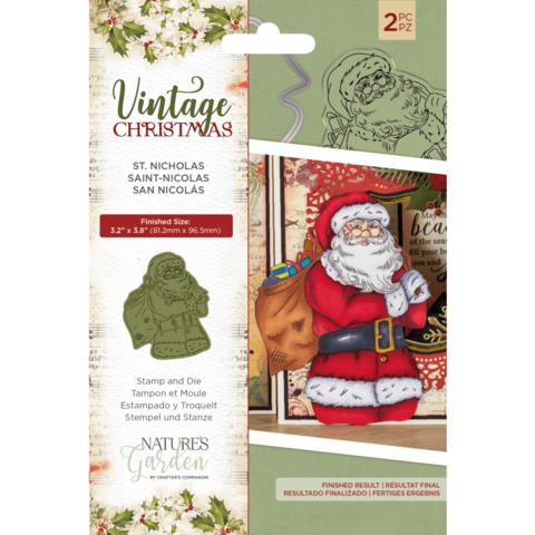 Crafter's Companion Vintage Christmas stanssi- ja leimasinsetti St Nicholas