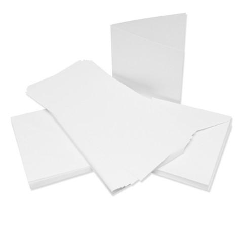 CraftUK korttipohjat ja kirjekuoret, valkoinen, linen, 300 g 6