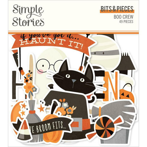 Simple Stories Boo Crew Bits & Pieces Die-Cuts, leikekuvat
