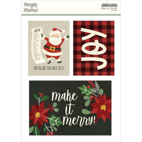 Simple Stories Jingle All The Way Sn@p! Card Pack, leikekuvat