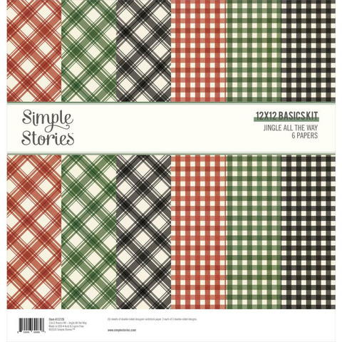 Simple Stories Jingle All The Way, Basics -paperipakkaus, 12