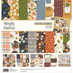 Simple Stories Cozy Days Collection Kit -paperipakkaus, 12