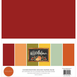 Carta Bella Hello Autumn, Solids -paperipakkaus, 12