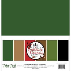 Echo Park Lumberjack Christmas, Solids -paperipakkaus, 12