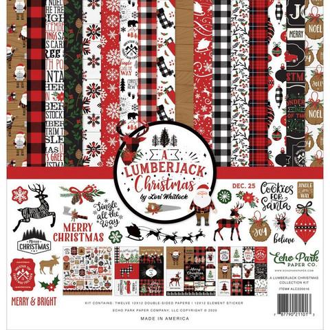 Echo Park A Lumberjack Christmas -paperipakkaus, 12