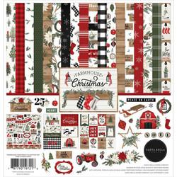 Carta Bella Farmhouse Christmas -paperipakkaus, 12