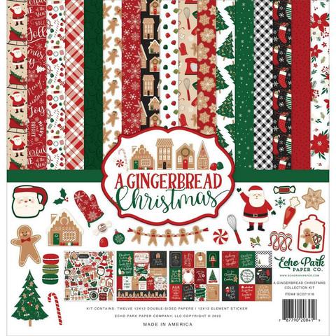 Echo Park A Gingerbread Christmas -paperipakkaus, 12