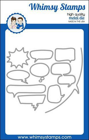 Whimsy Stamps Comic Speech Bubbles -stanssisetti