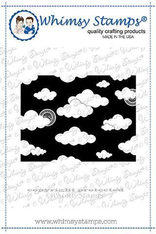 Whimsy Stamps Mini Cloud Background -leimasin