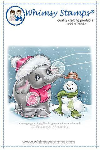 Whimsy Stamps Ellie's Snowman -leimasin