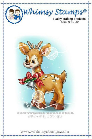 Whimsy Stamps Christmas Deer -leimasin