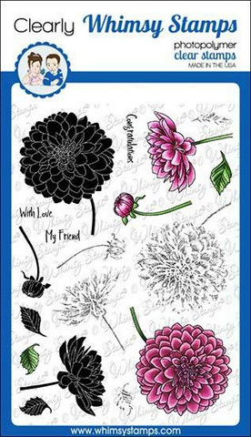 Whimsy Stamps Layered Dahlia -leimasinsetti
