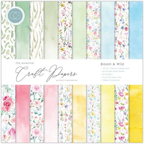 Craft Consortium paperipakkaus Bloom & Wild, 12